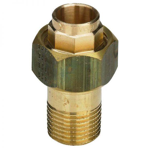 Разъемное соединение пайка-Н 15х1/2' с коническим уплотнением