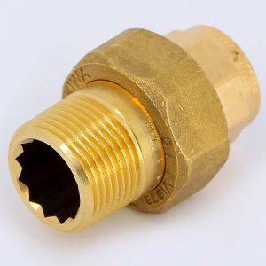 Разъемное соединение пайка-Н 22х3/4' с плоской прокладкой