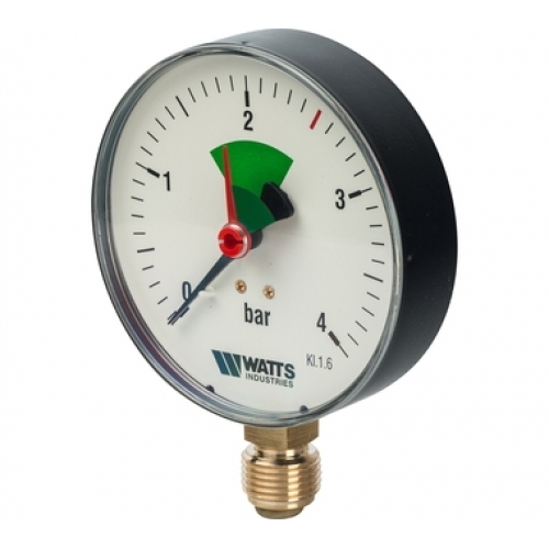 """Манометр радиальный 100 мм, 0-10 бар 100/10x1/2"""" Watts"""