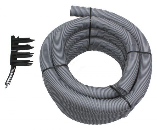 Набор 5: Гибкий дымоход Dn 80 мм длиной 15 м и держатели для его фиксац в канале шахты (7шт.) 303514