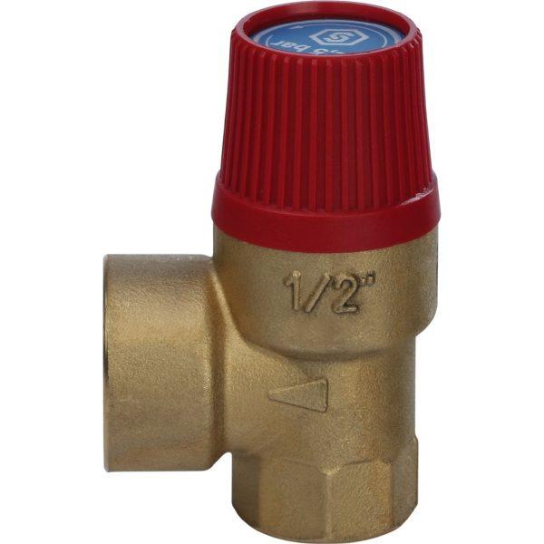Клапан предохранительный для систем отопления 2,5 бар  25 x 1/2 STOUT