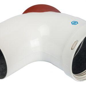 Отвод 90° DN80 с инспекционным патрубком STOUT Элемент дымохода SCA-0080-010090