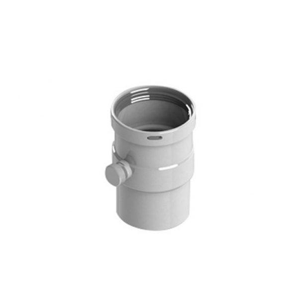Вертикальный  D80  п/м с патрубком для отвода конденсата STOUT Элемент дымоходаSCA-0080-020137