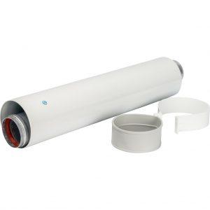 Труба коаксиальная DN60/100 500 мм п/м, уплотнения и хомут в комплектеSCA-6010-000500 STOUT