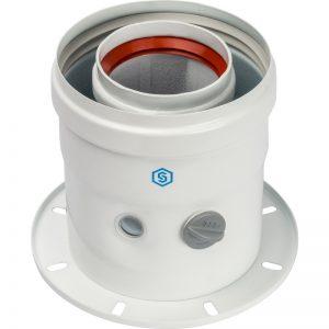 Адаптер для котла DN60/100 вертик. коаксиальный (совм с Bosch,Buderus) STOUTSCA-6010-240100