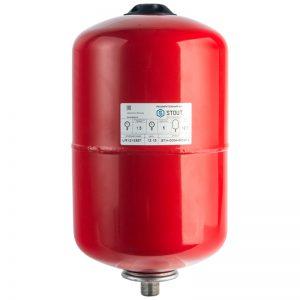 Расширительный бак 12 отопление (красный) STOUT