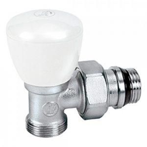 Вентиль ручной угловой с отводом R25TG 1/2x16, хром R25X033