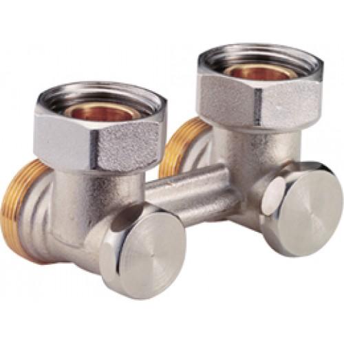 Мультифлекс угловой для 2 трубных систем с отсечным клапаном, 3/4х3/4 R388X002