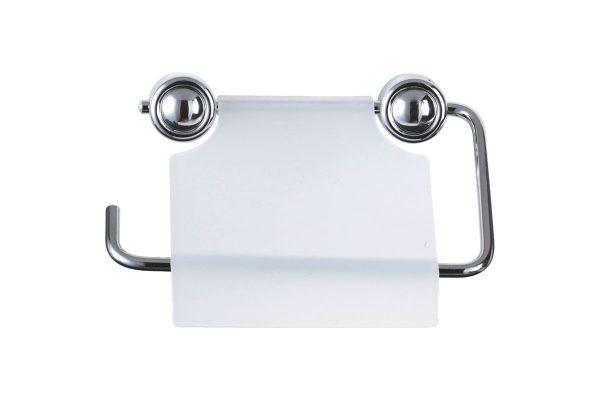 Держатель д/туалетной бумаги, хром/пластик, крепление шуруп B0926, 2487 Рыжий Кот