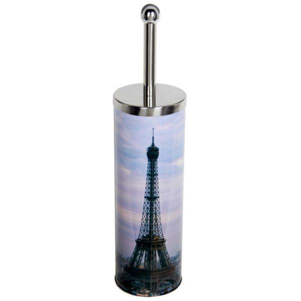 Туалетная щетка-ерш (Комплект WC) Париж 27см, нерж сталь, TBS-12, 310444 Рыжий Кот