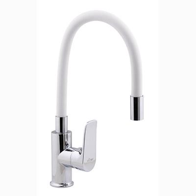 Смеситель для кухни с гибким белым изливом R3193F