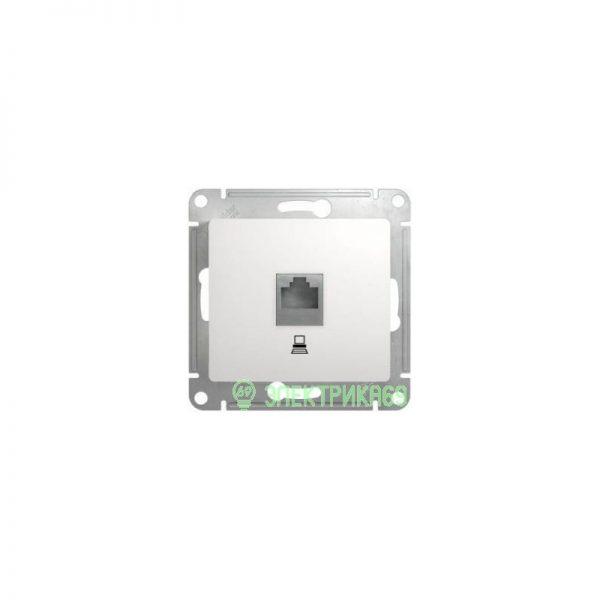 Schneider AtlasDesign мех. роз. компьют. СУ 1 мест. бел. (пласт. осн., RJ-45) ATN000183