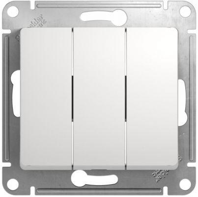 Schneider GLOSSA мех. выкл. СУ 3 кл. бел. (пласт. осн.) GSL000131