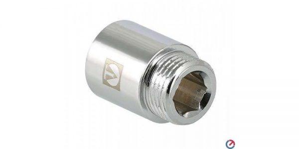 """Удлинитель хромированный 1/2""""х80  мм VALTEC"""