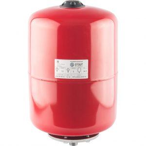 Расширительный бак 18 отопление (красный) STOUT