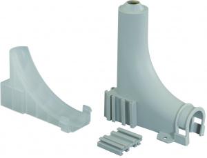 Фиксатор колена д/радиатора, разъемный, для кожуха 25/20 мм.  м/у осями 40 мм.