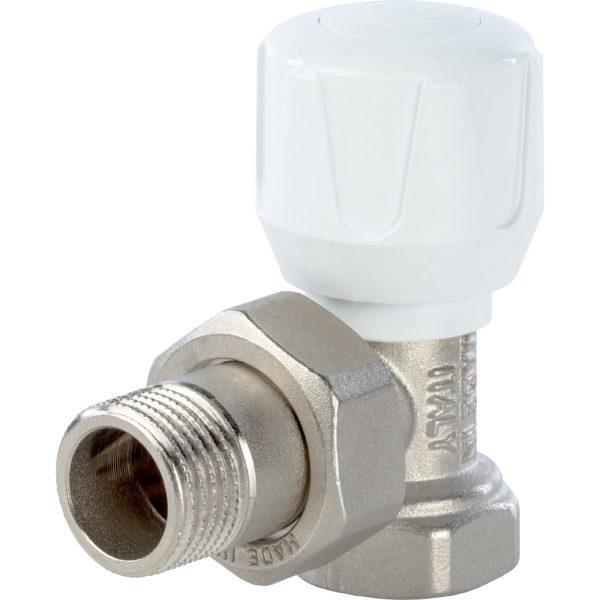 Клапан ручной терморегулирующий, угловой 1/2 STOUT