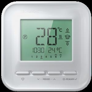 Терморегулятор ТЕПЛОЛЮКС 520 белый, цифр.упр-е, ЖК экран, на 7дн/4соб