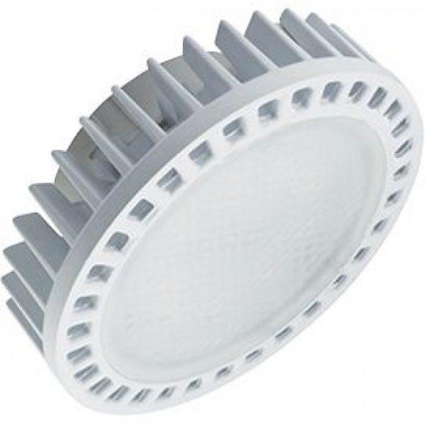 Лампа св/д Ecola GX53 св/д 15W 4200K 4K 27x75 матов. стекло алюм. Premium T5FV15ELC