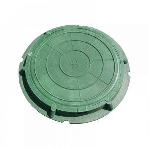 Люк канализ. полимерный 15кН зеленый