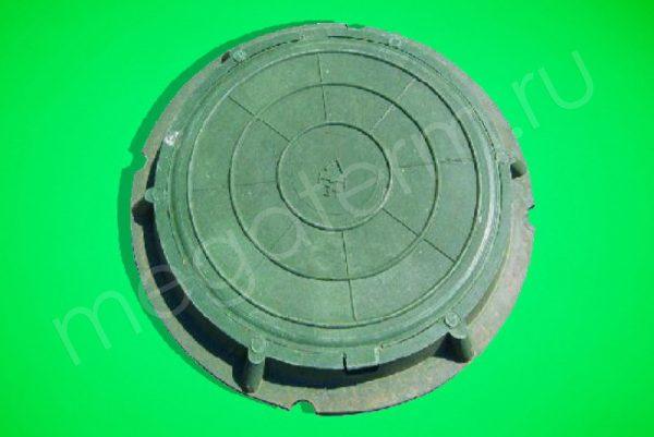 Люк канализ. полимерный 30кН зеленый