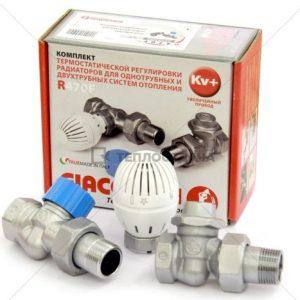 Комплект термостатический для подключения радиаторов, прямой 1/2  R470FX013