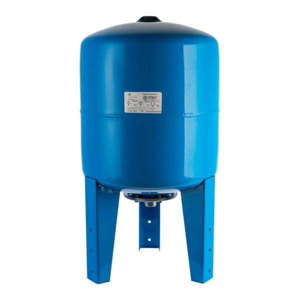 Расширительный бак, гидроаккумулятор 50л.вертикальный (синий) STOUT