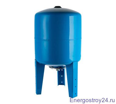Расширительный бак, гидроаккумулятор 80л.вертикальный (синий) STOUT