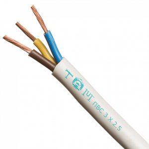 Провод соединительный ПВС 3х1,5 белый (ТУ)100м
