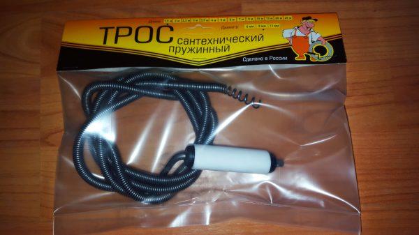 Трос сантехнический  4 м (9мм.) с вращающейся ручкой