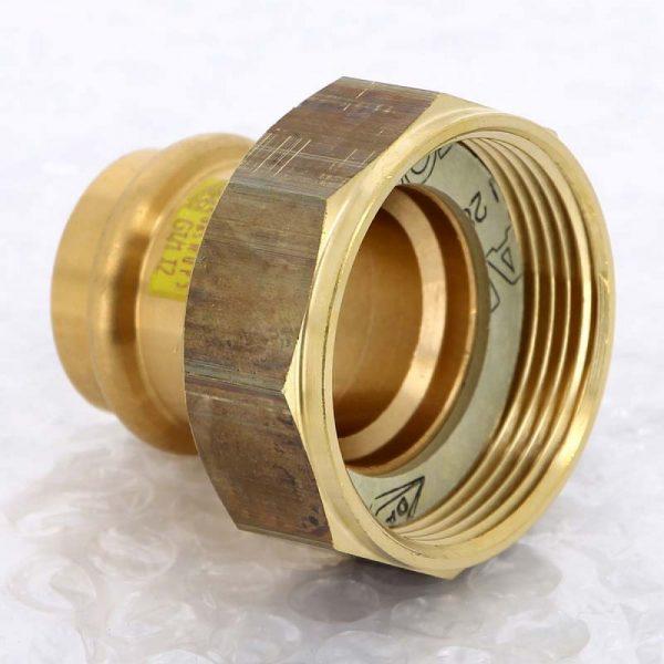Муфта пресс-В 28х1'1/2 с накидной гайкой с плоской прокладкой бронза Profipress G SC-Contur