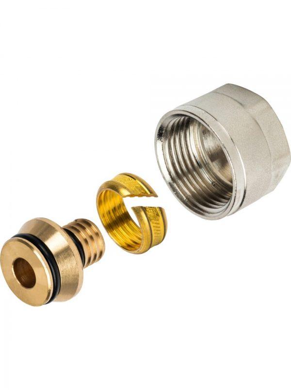 Фитинг компрессионный для труб 20х2,0х3/4 PEX-AL-PEX STOUT