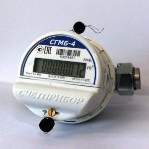 Счетчик газа СГМБ-4,0 (с батарейным отсеком)(Орел);Счетприбор