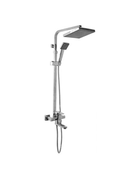 Душевая система ML2433(смеситель40К с изл+лейка+1поз+душ шл+троп. душ.)