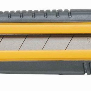 Нож 25мм резин-пластик ручка с металл. ведомой, винт для фиксации