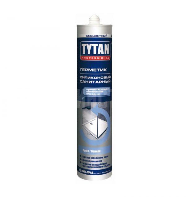 Герметик силиконовый санитарный 280 мл TYTAN Professional бесцветный