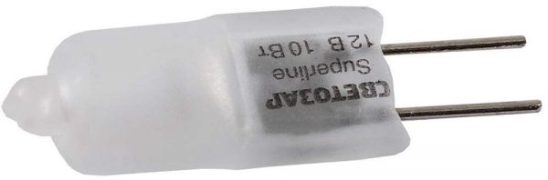 Лампа галогенная СВЕТОЗАР капсульная, матовое стекло, диаметр 9мм,20Вт,12В