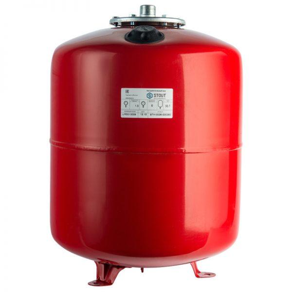 Расширительный бак 80 отопление (красный) STOUT