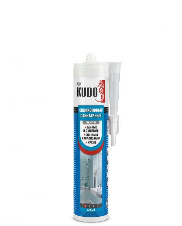 Герметик силиконовый санитарный KUDO белый (280мл)