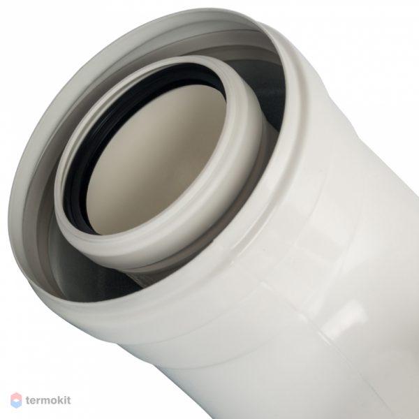 Отвод 90° м/п DN60/100  STOUT Элемент дымохода SCA-8610-010090