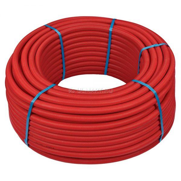 Металлопластиковая труба RIXc в красной гофре, 20х2 100м