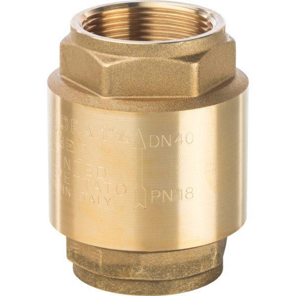 Клапан обратный пружинный муфтовый с металлическим седлом 1 1/2 STOUT