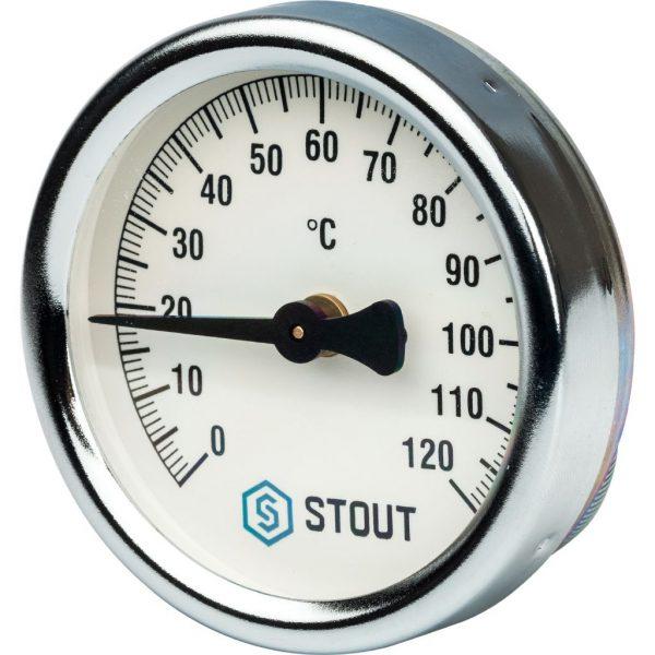 Термометр биметал. с накладной пружиной. Корпус Dn 63 мм STOUTSIM-0004-630015