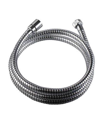 Шланг душевой 150-200 см LEMARK LE8032S растяжка, хром. сталь, двойной замок