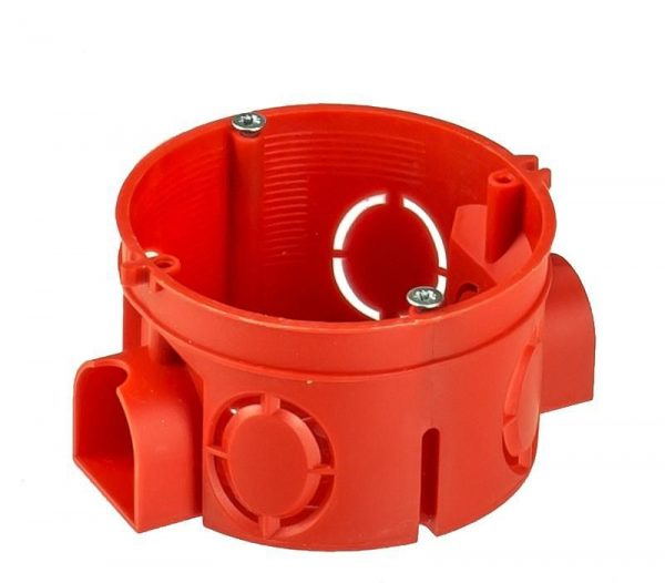 HEGEL коробка уст. внеш. 68х42мм (внутр. 64х40мм) СУ для твердых стен 7 вводов блочная КУ1101