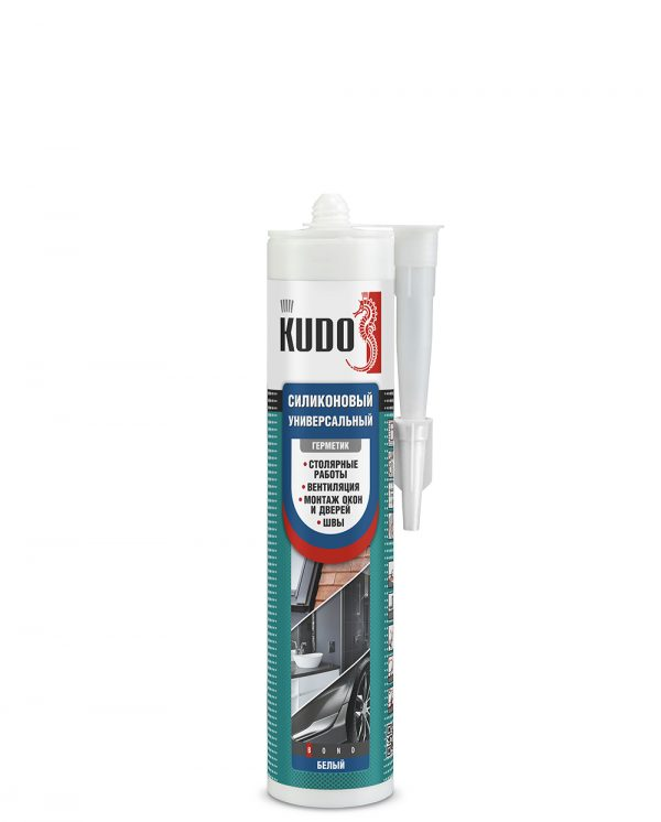Герметик силиконовый универсальный KUDO прозрачный (280мл)