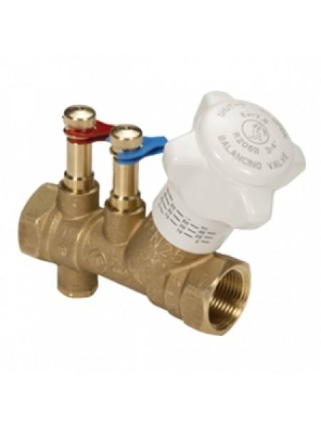 Балансировочный  клапан 1 1/2* со штуцерами и  сливом R206BY007